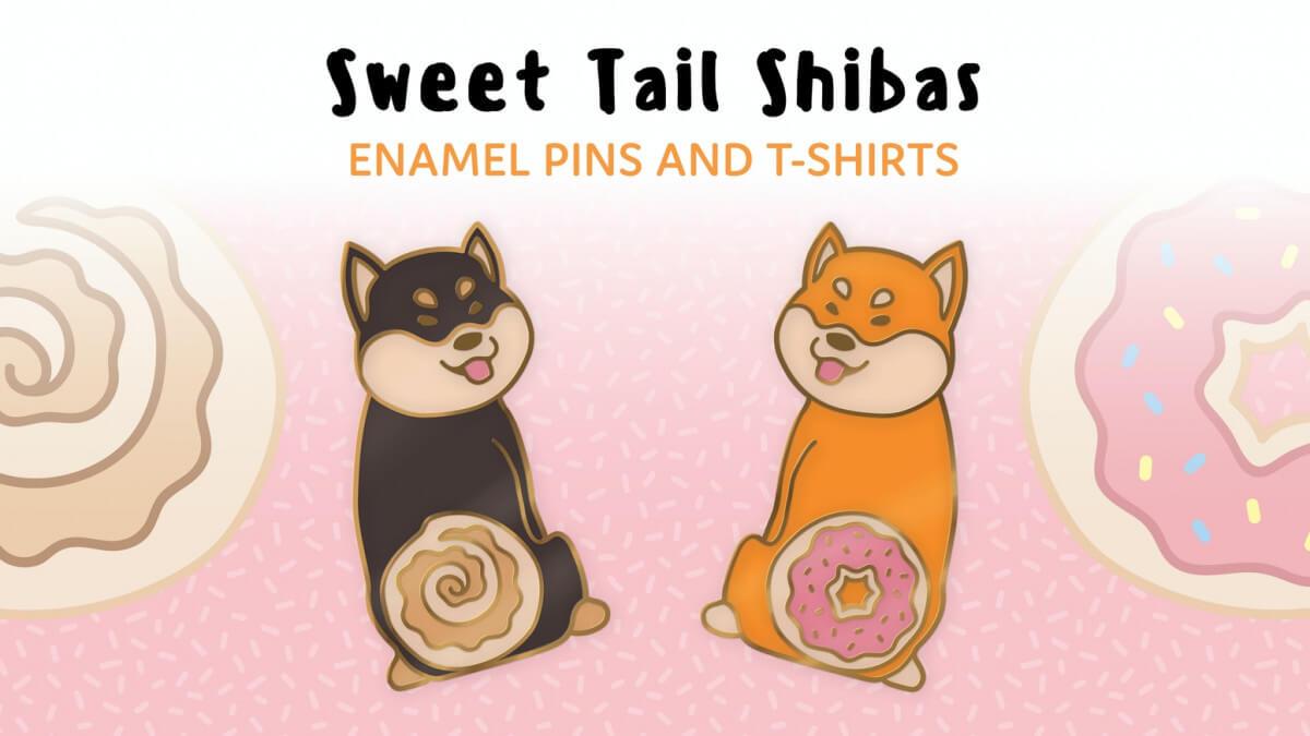 Shiba enamel pins