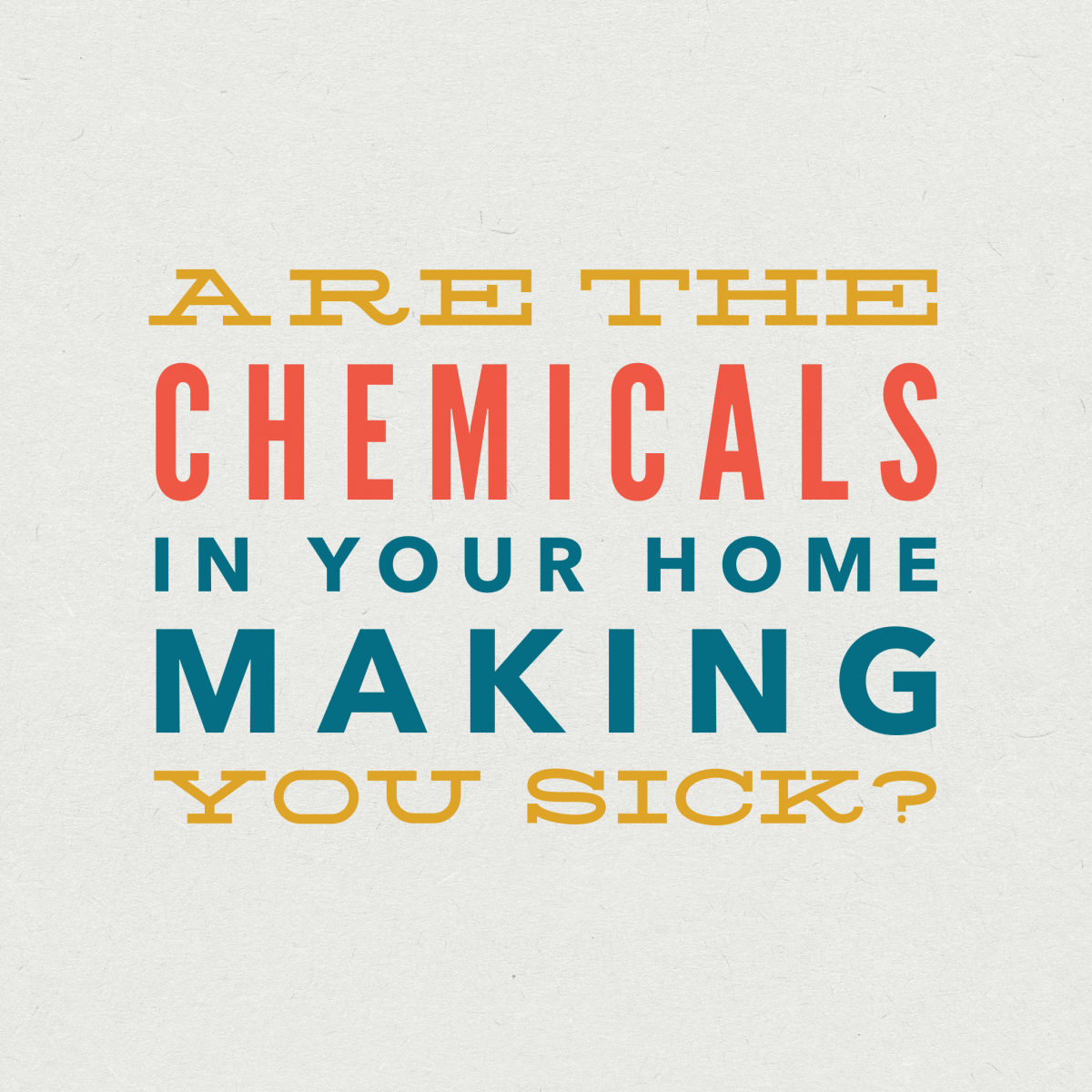 Musings about Chemicals in Our Home Furnishings