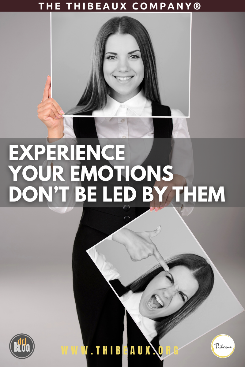 Experience Your Emotions Don't Be Led by Them