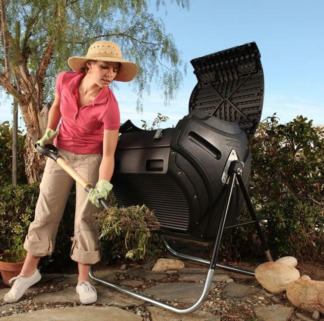 lady composting