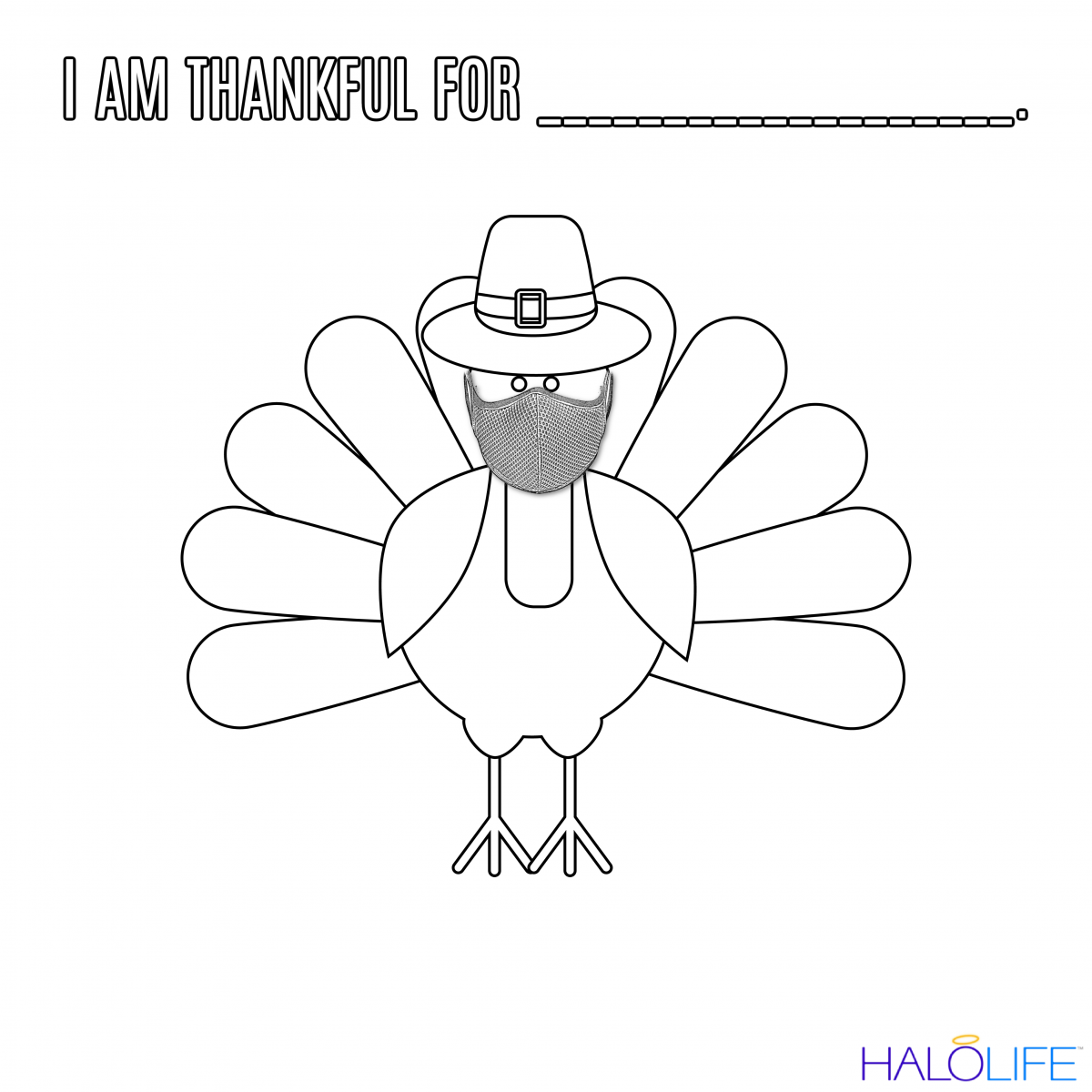 HALOLIFE Thanksgiving Coloring Page [PRINTABLE]
