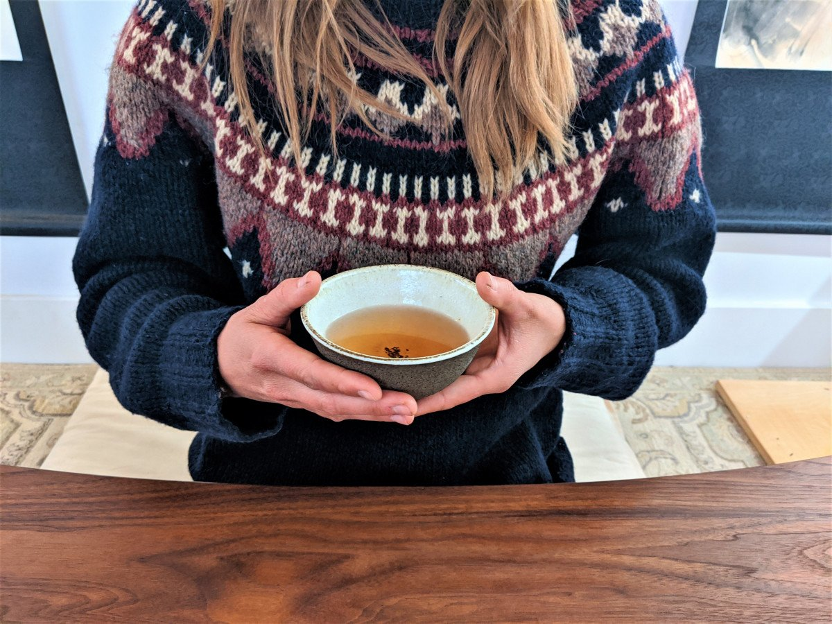 Intentions with tea bowls