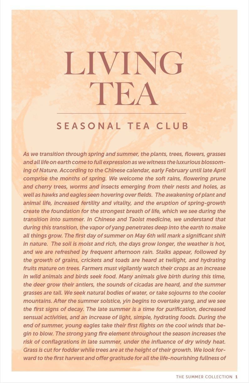 Summer 2019 Seasonal Tea Club