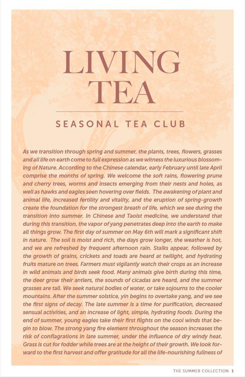 Seasonal Tea Club Summer 2019