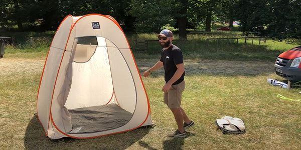 How To: Fold the OLPRO Utility / Toilet / Shower Tent
