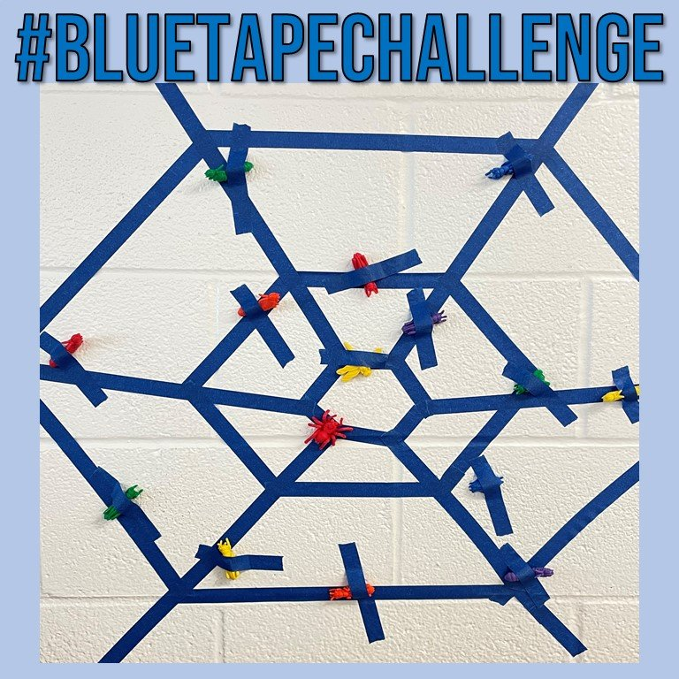 BlueTapeSpiderWeb