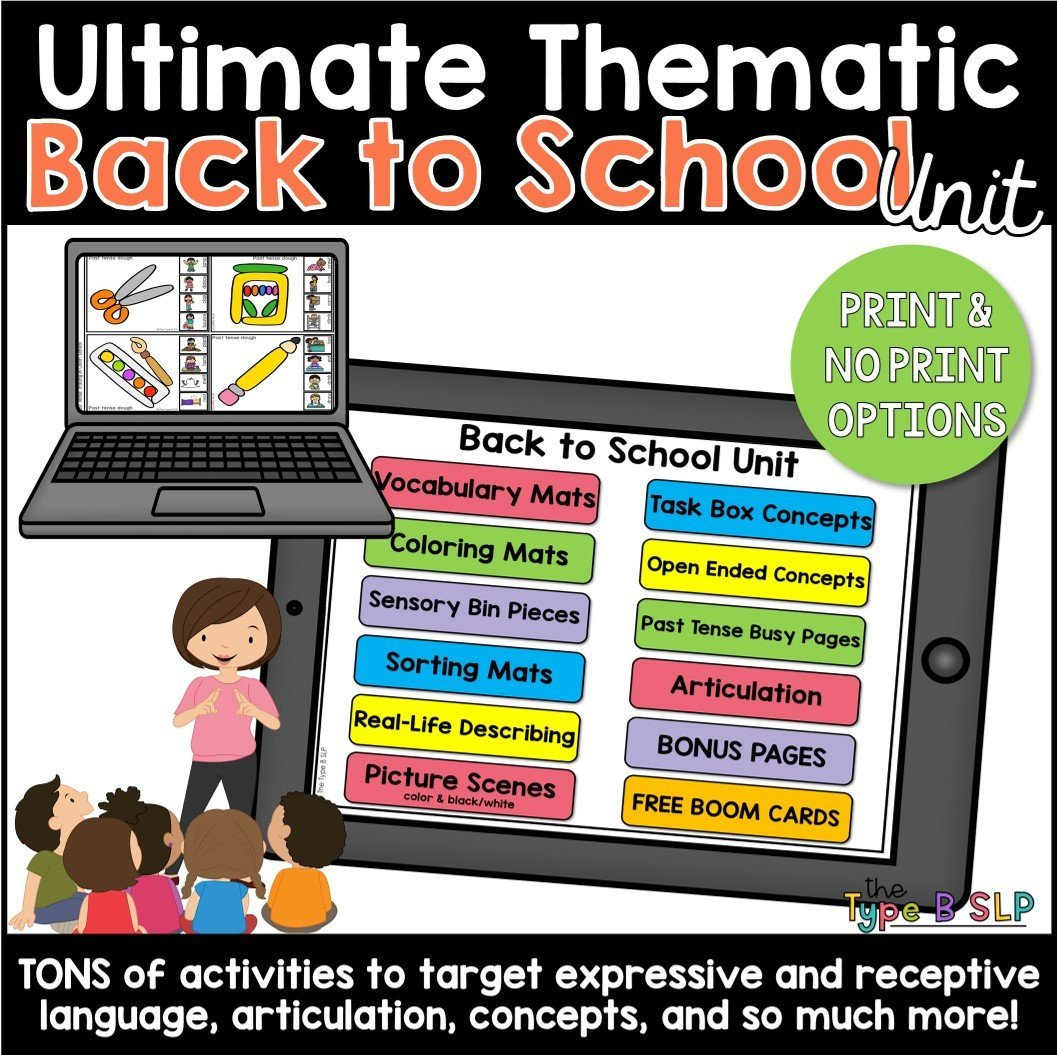 ultimate back to school unit