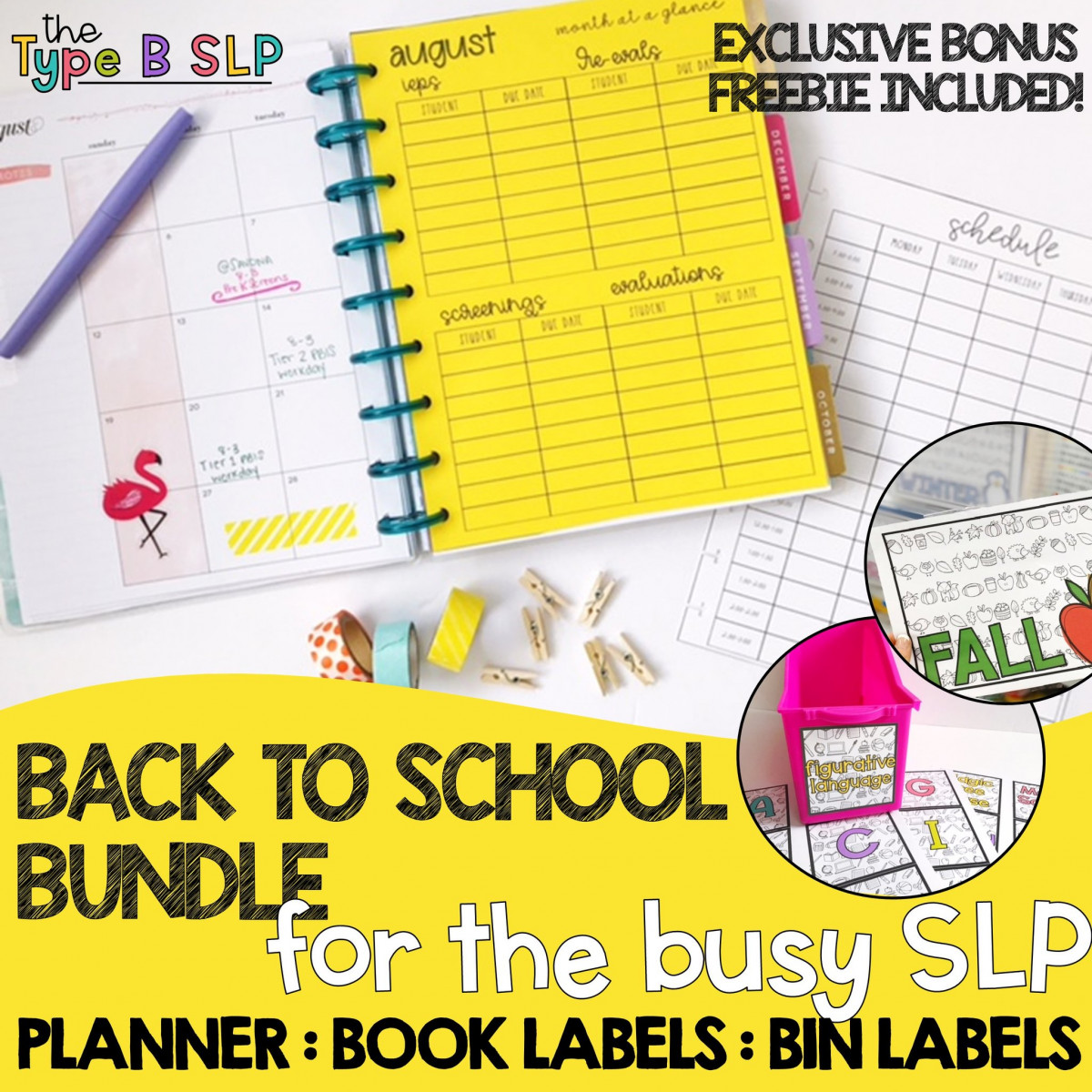 back to school planner bundle