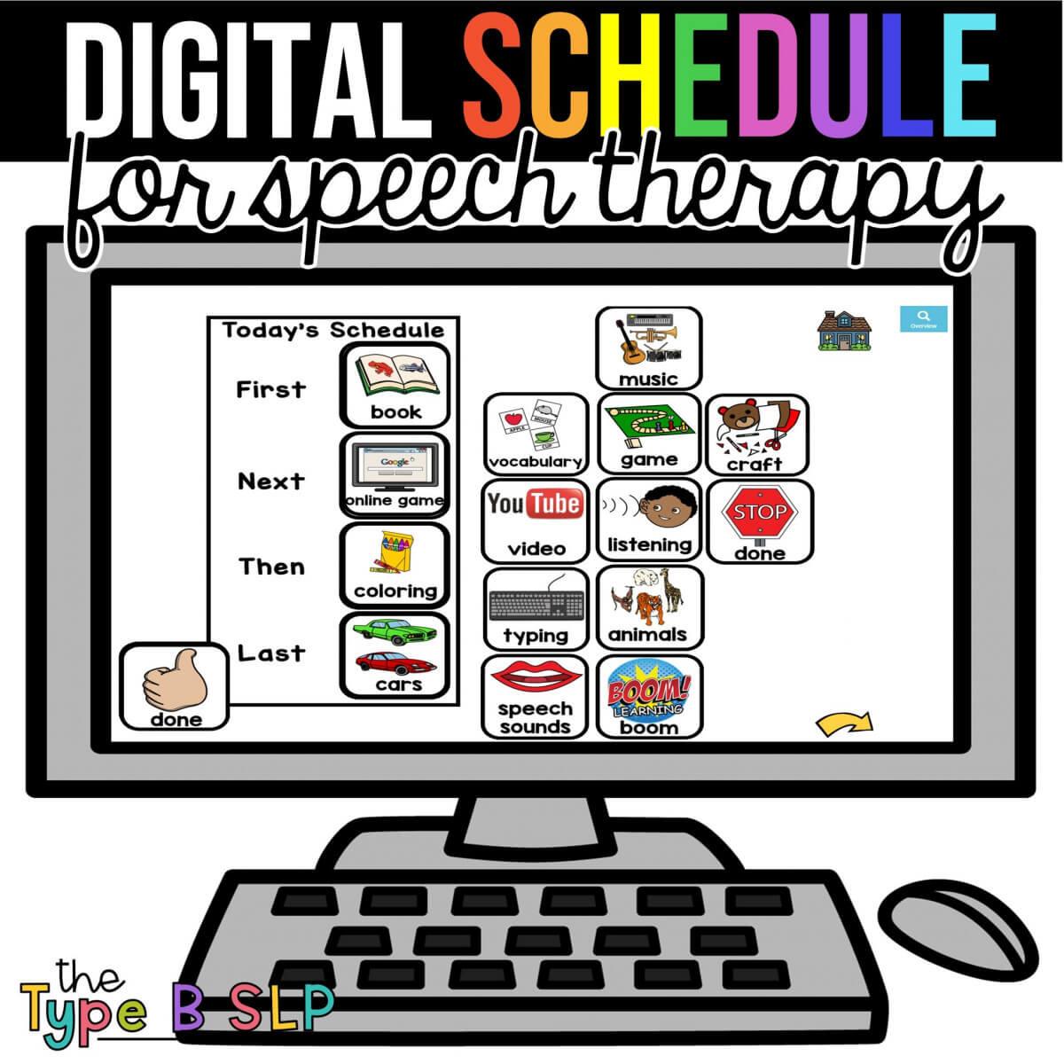 digital schedule
