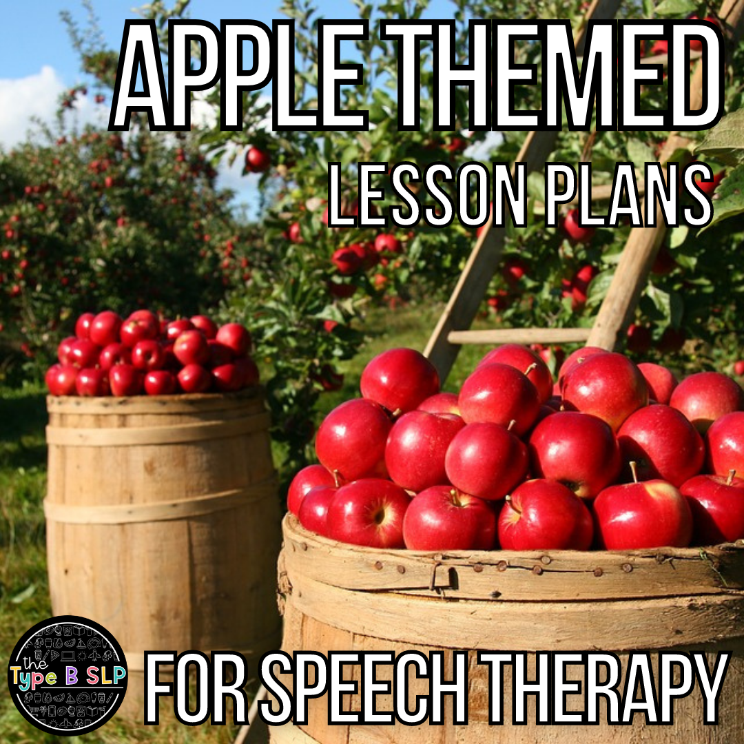 Apple Lesson Plans for Speech Therapy