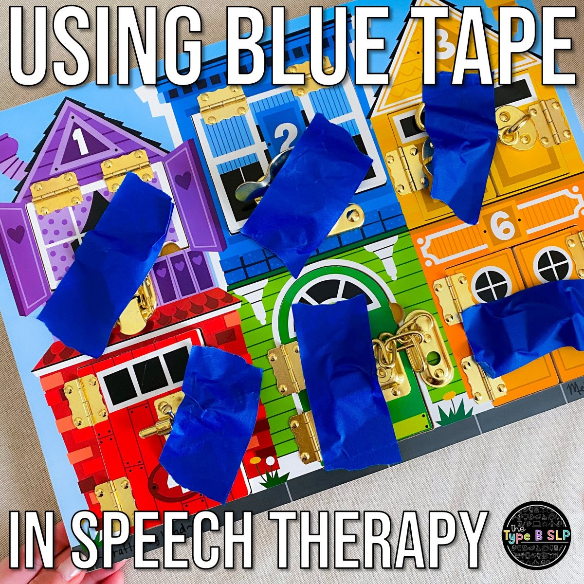 No Prep Speech Therapy: Using Blue Painters Tape