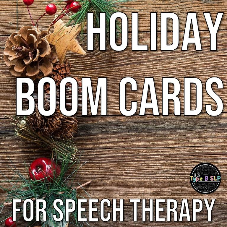 Using Holiday Boom Cards in Speech Therapy