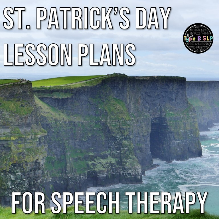 St. Patrick's Day Theme Lesson Plans for Speech Therapy