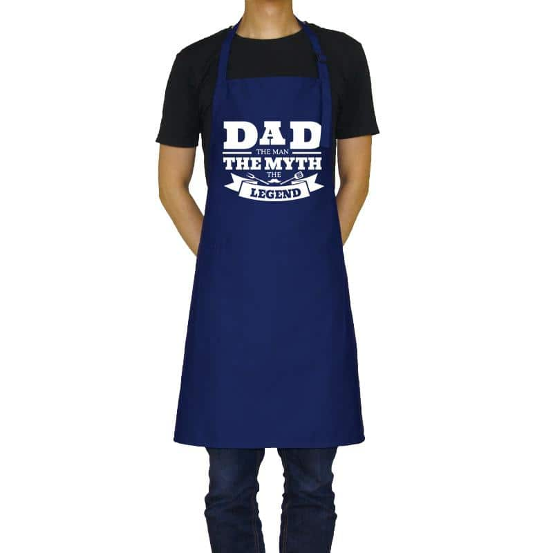 dad the myth the legend funny text apron
