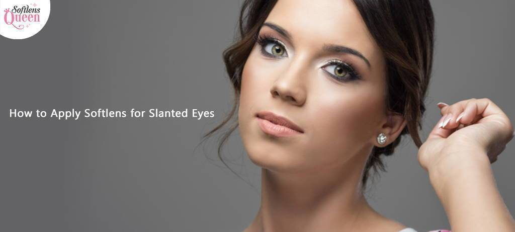 Colored Contact Lens for Slanted Eyes