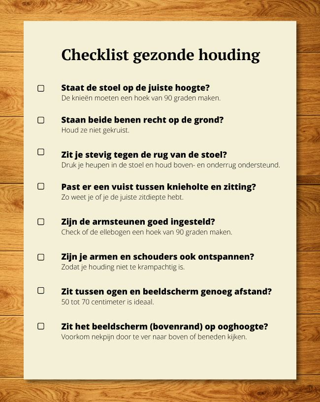 Checklist zithouding Shopvoorgezondheid blog