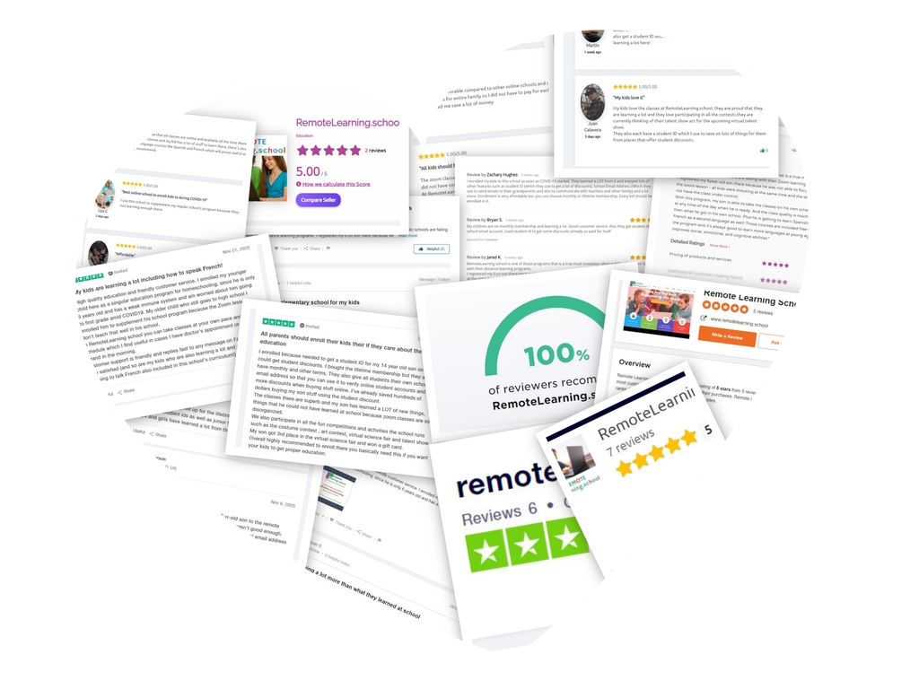 RemoteLearning.school Reviews - Moms, Dads, and Kids Just Love Our Program!