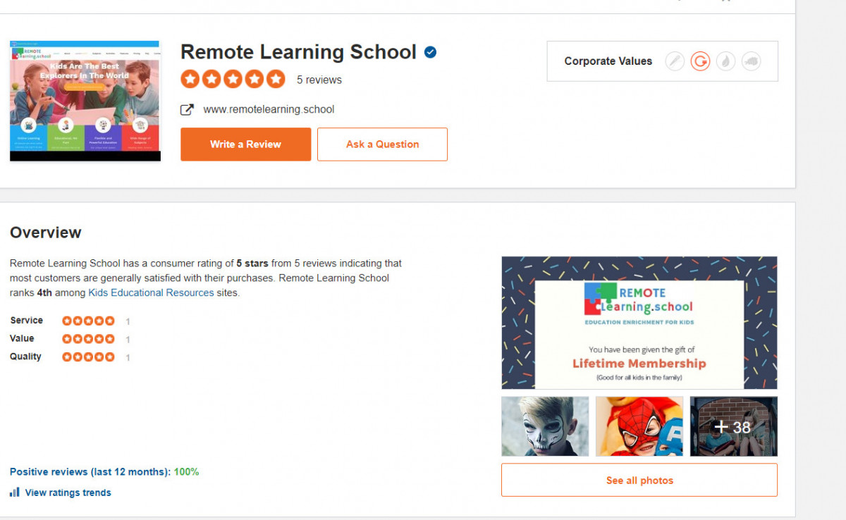 RemoteLearning.school Reviews on Sitejabber
