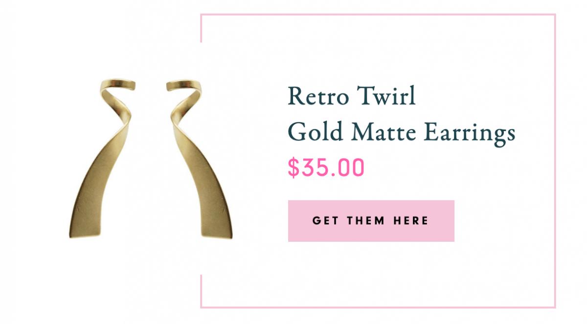 Retro Twirl Matte Earrings