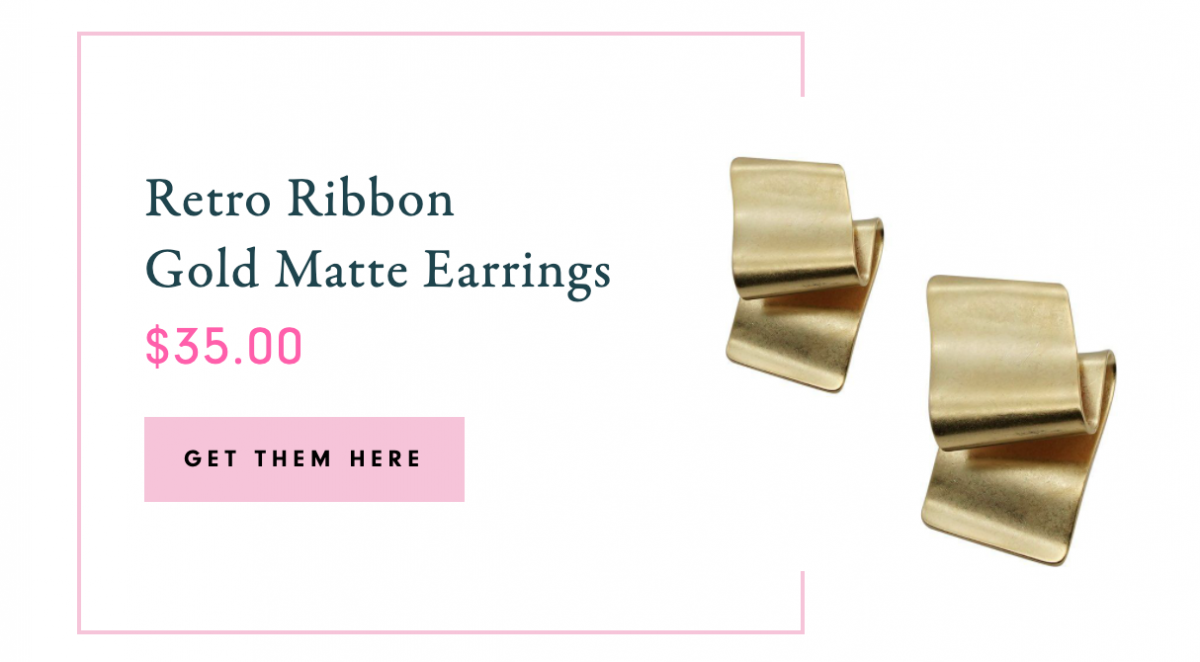 Pac-Man Gold Polished Earrings