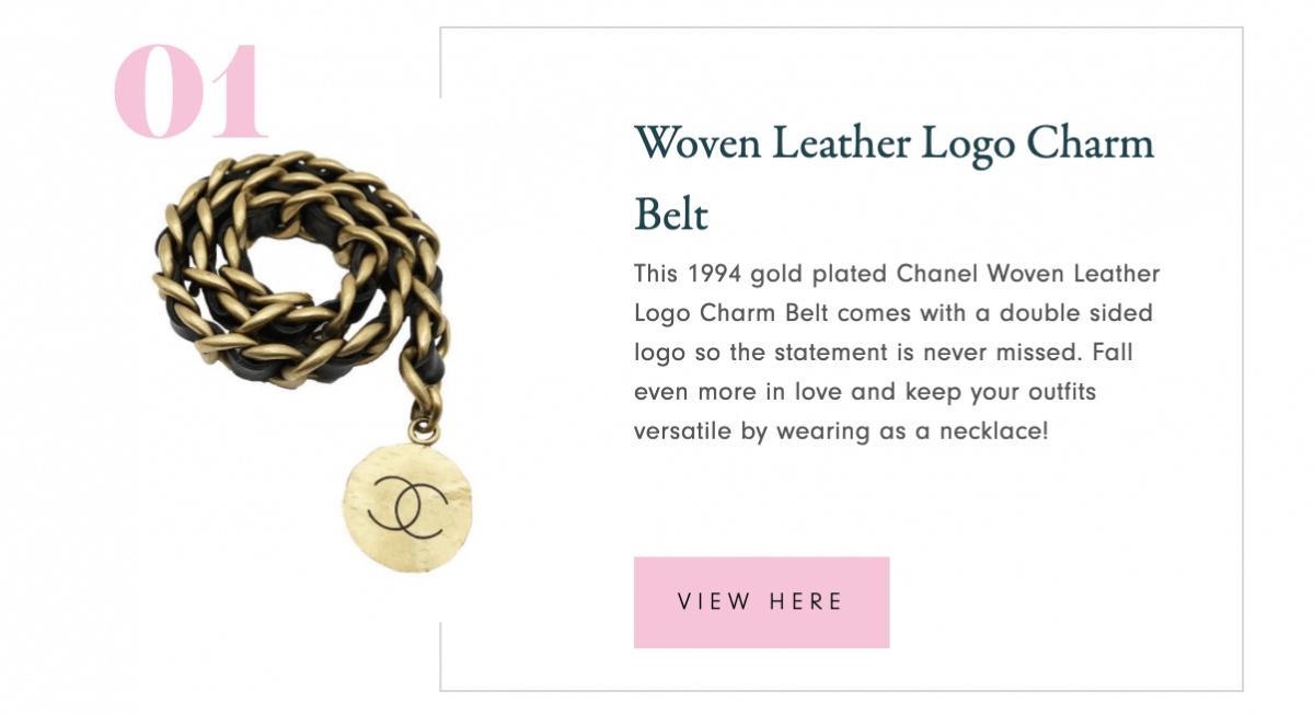 Brooklyn Bleu Vintage Chanel Belt