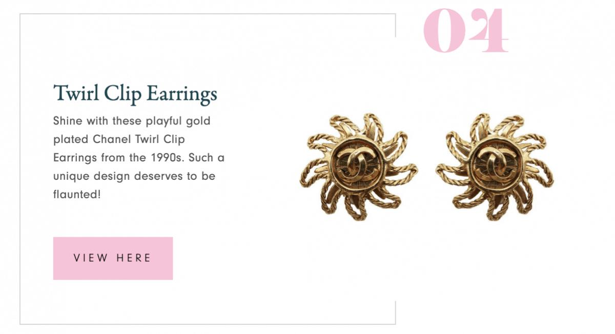 Chanel Twirl Clip Earrings