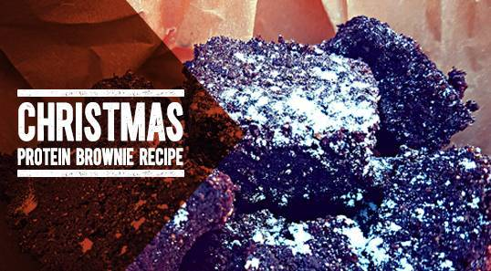 Christmas Protein Brownies