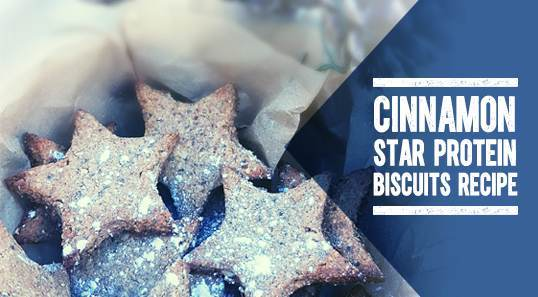 Christmas Cinnamon Star Protein Biscuits