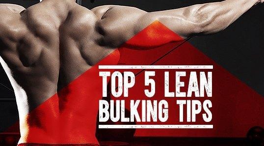 Top 5 Lean Bulking Tips
