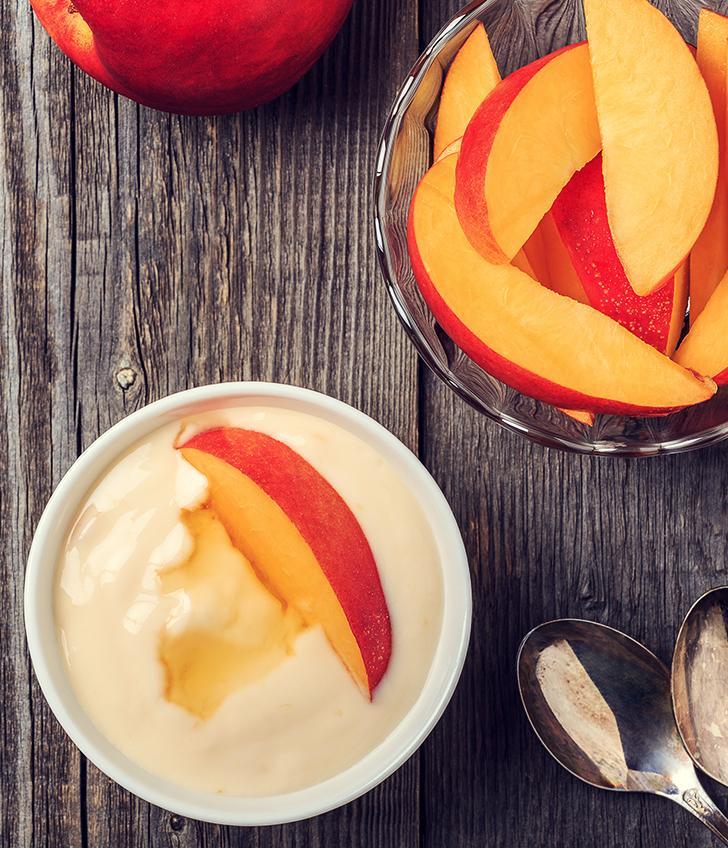 Baked Peach & Protein Cream