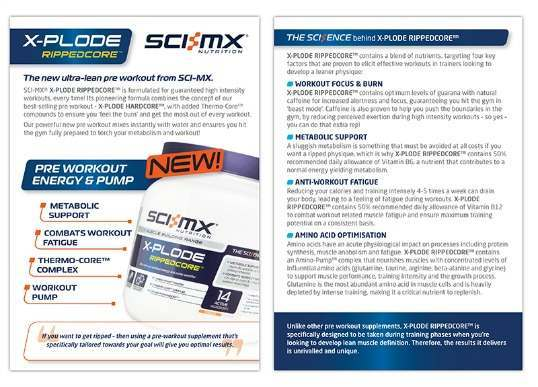 Ultra-lean pre workout from SCI-MX