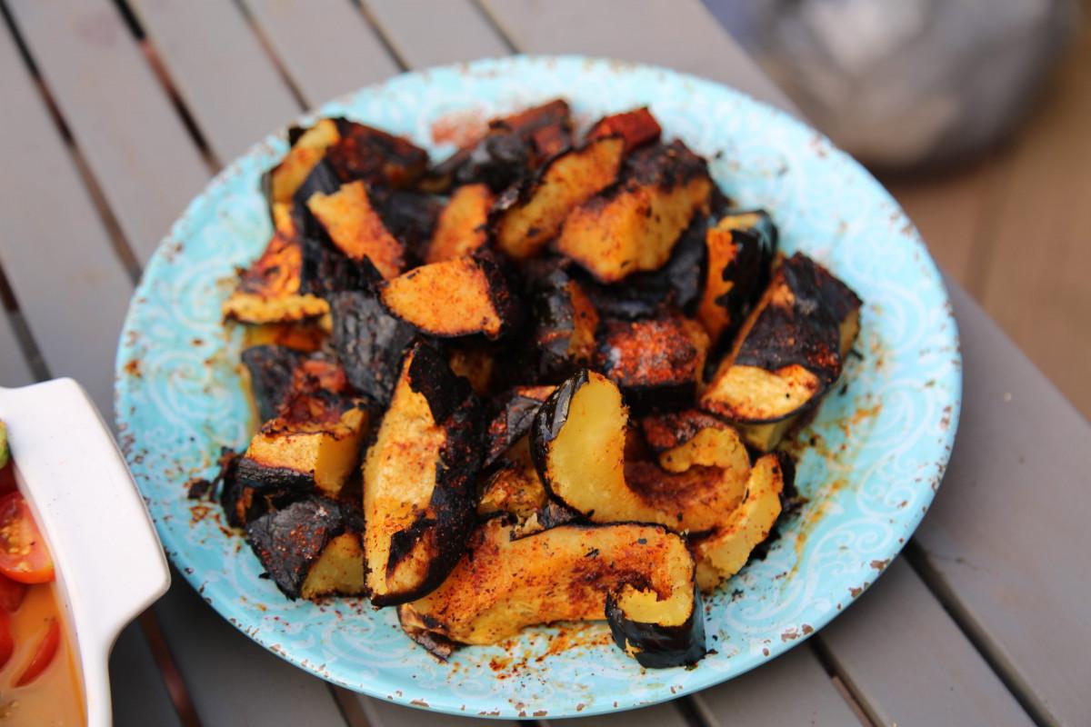 Smokey Grilled Espelette Acorn Squash