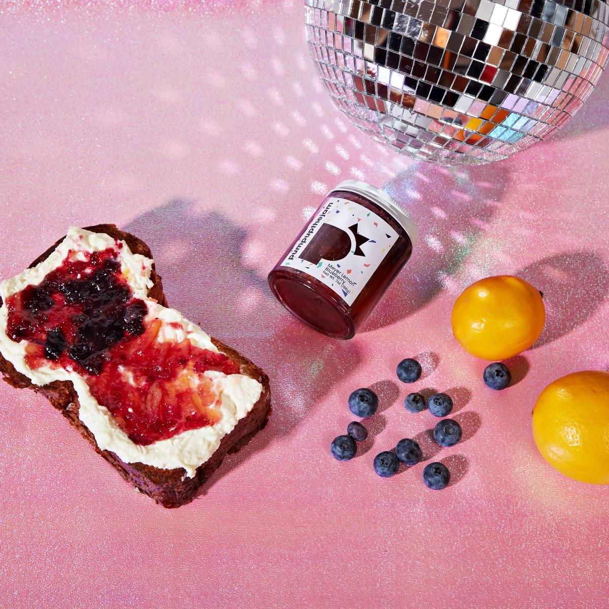 Whipped Ricotta Toast with Meyer Lemon Blueberry Jam