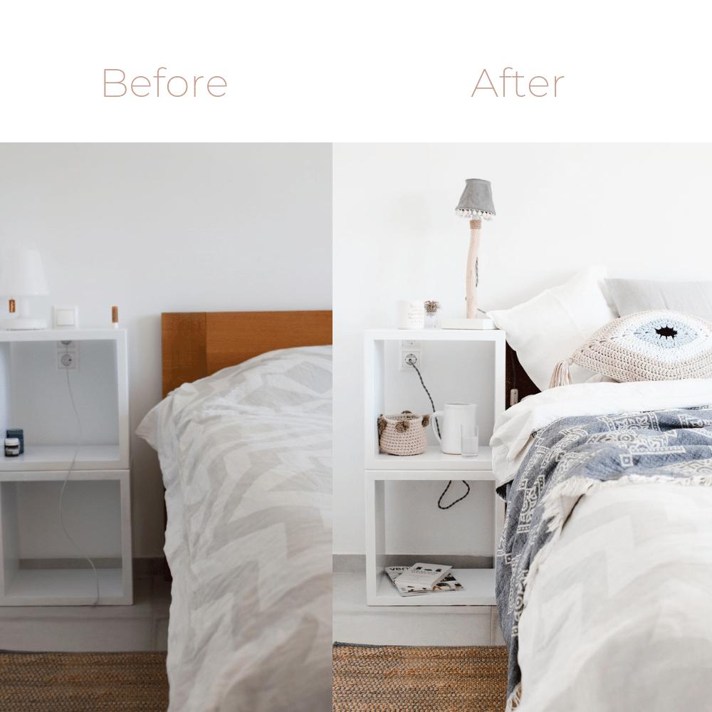 Make over - Bedside corner