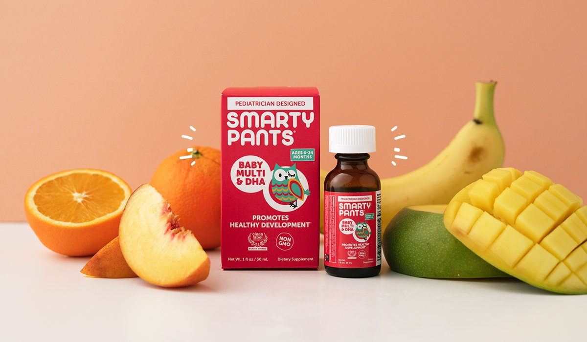 Meet SmartyPants New Baby Multivitamin with DHA