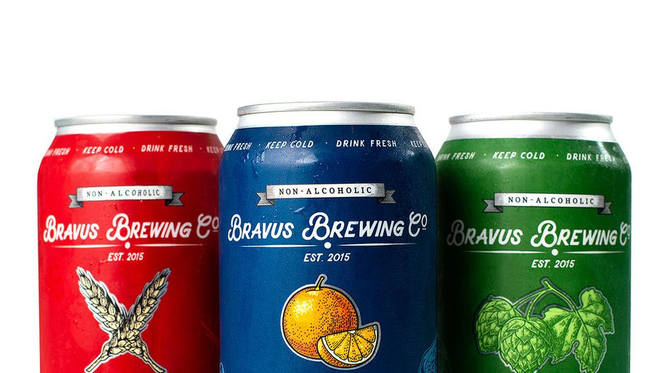 Bravus Brewing Co Non Alcoholic Beer Cans