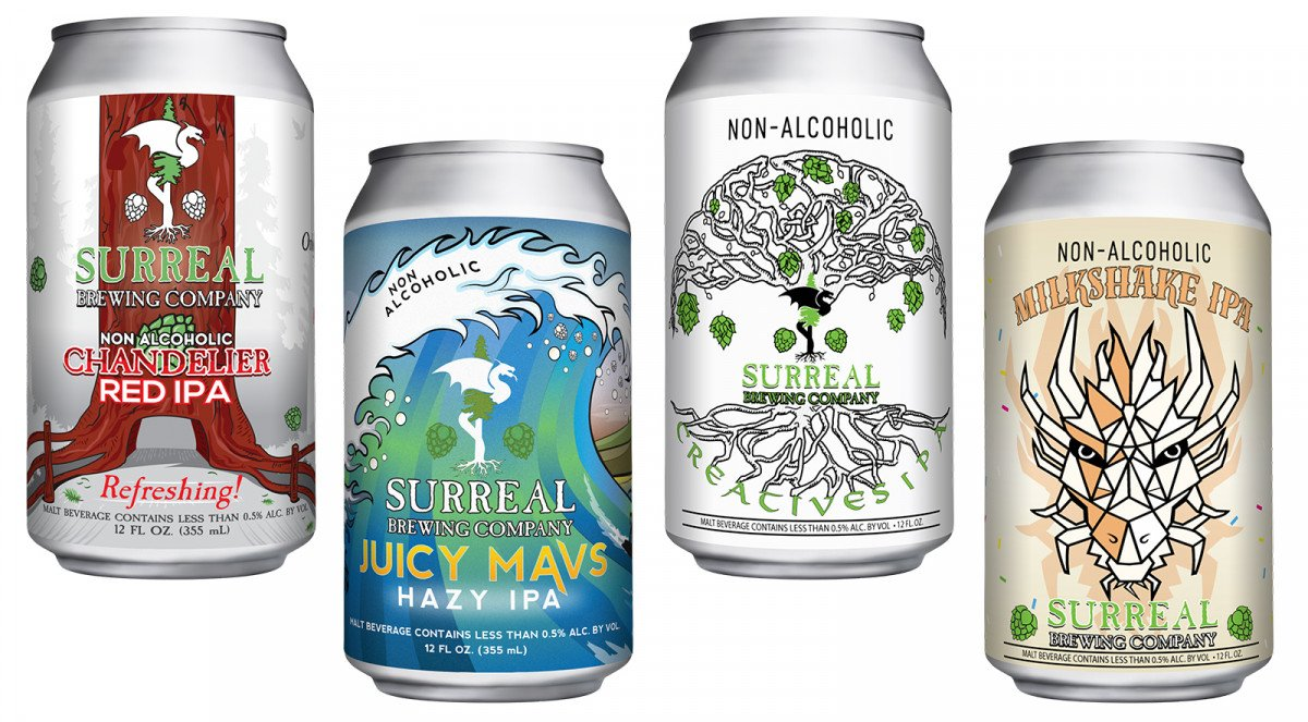 Surreal Brewing Company Non Alcoholic Beer