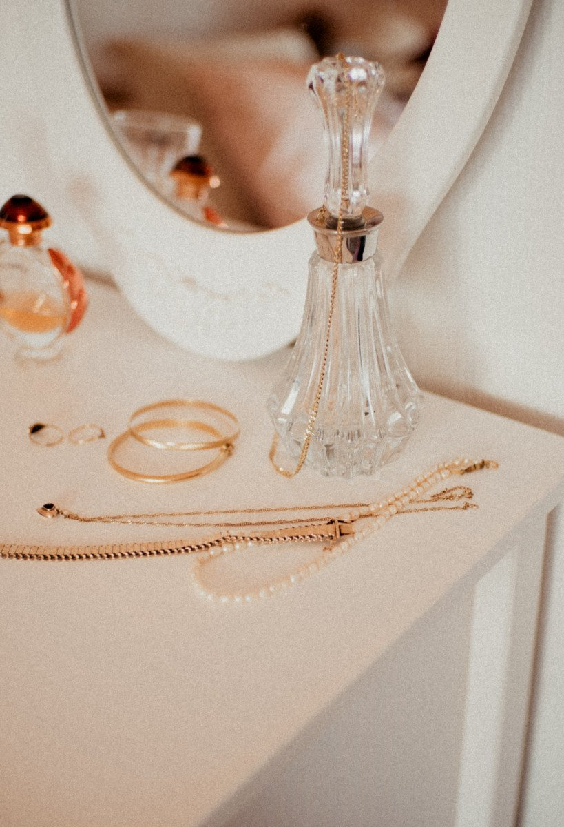gold-filled with aesthetic dresser set
