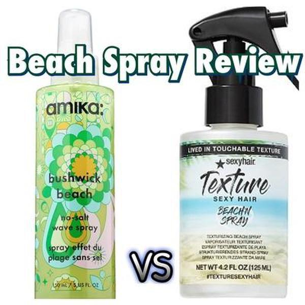 Amika No Salt Beach Spray vs Sexy Hair Beach Spray