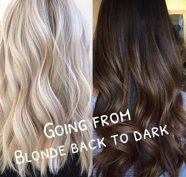 How to Dye Your Hair from Blonde Back to Dark