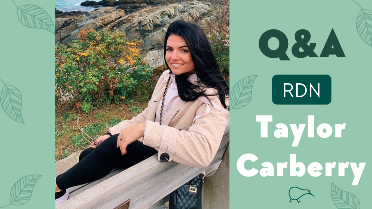 Q&A with Plant-based RD, Taylor Carberry