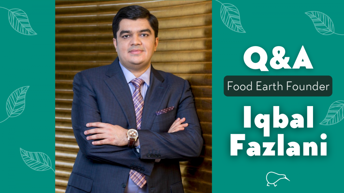 Q&A with Iqbal Fazlani, Founder of Food Earth, a plant-based brand of ready-to-eat meals