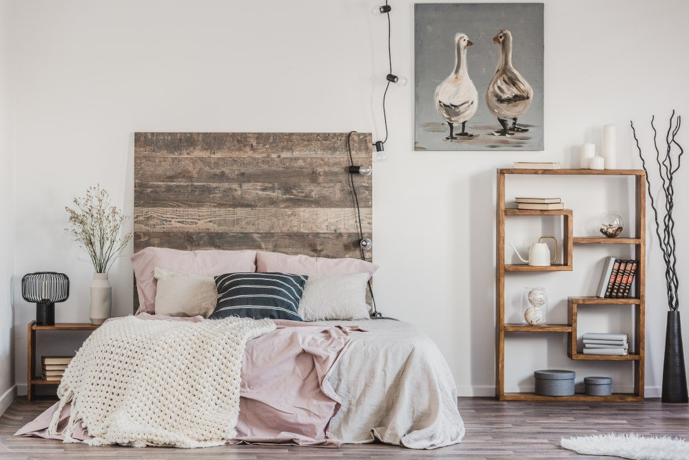 Unconventional Wall Panel Usage: Study, Headboard, Staircase