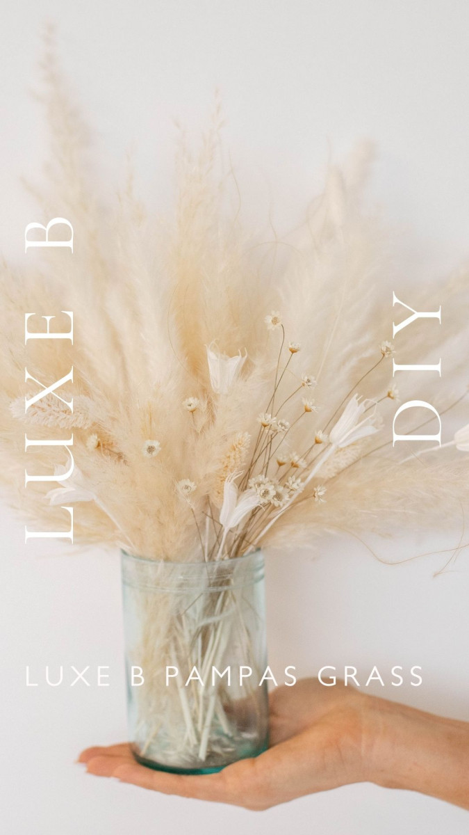 DIY-How to Cut Wine Bottles into Vases-Luxe B Pampas Grass