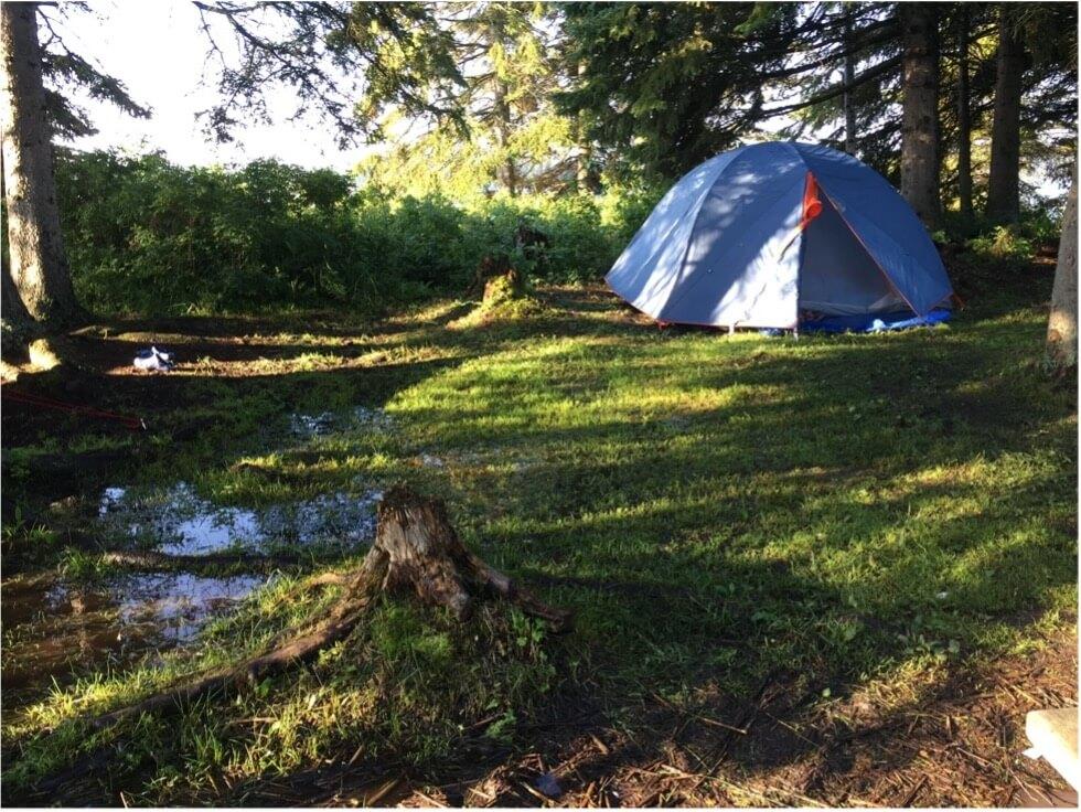 multi day sup camp setup