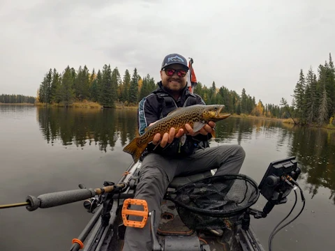 Fall Kayak Fishing - Terran Bernhard