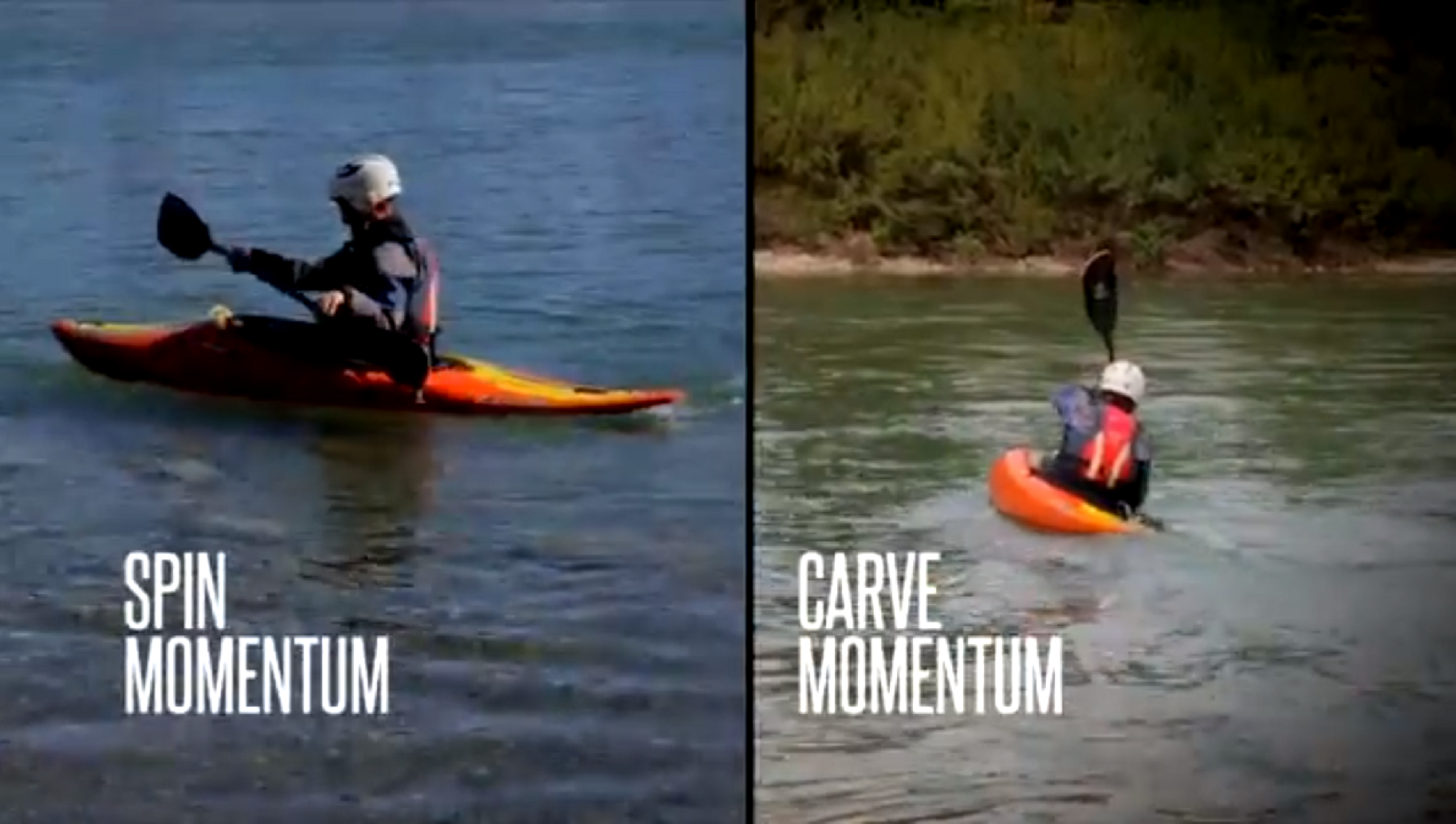 How to ID Spin vs. Carve Momentum - Beginner Kayak Instructional Video