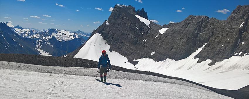 Roberston Glacier Summer Splitboarding