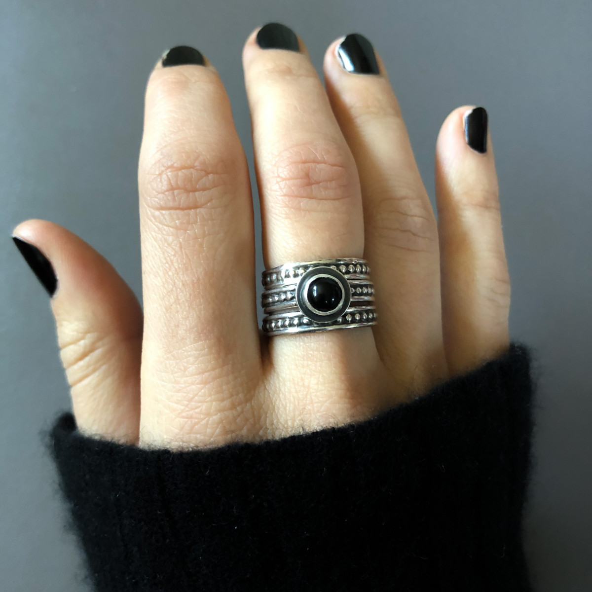 Product Feature - Protection Ring Stack with Onyx