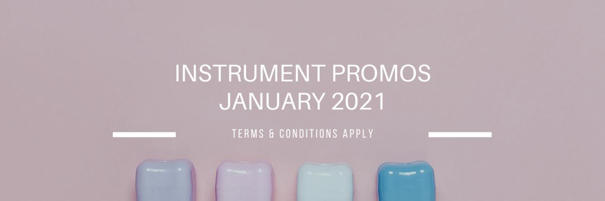 JANUARY 2021 DENTAL INSTRUMENT PROMOTIONS